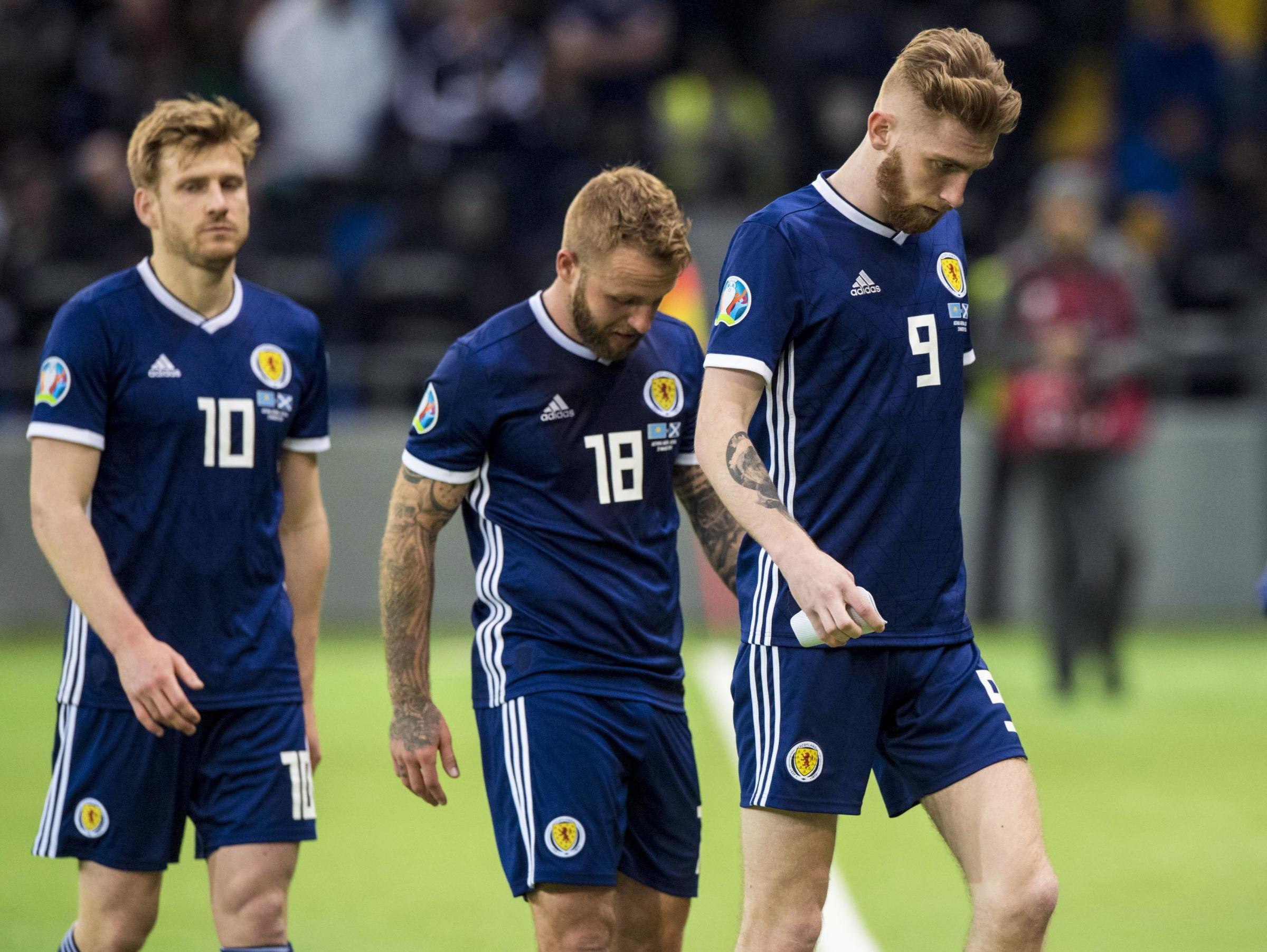 There was nowhere to hide for the Scotland team