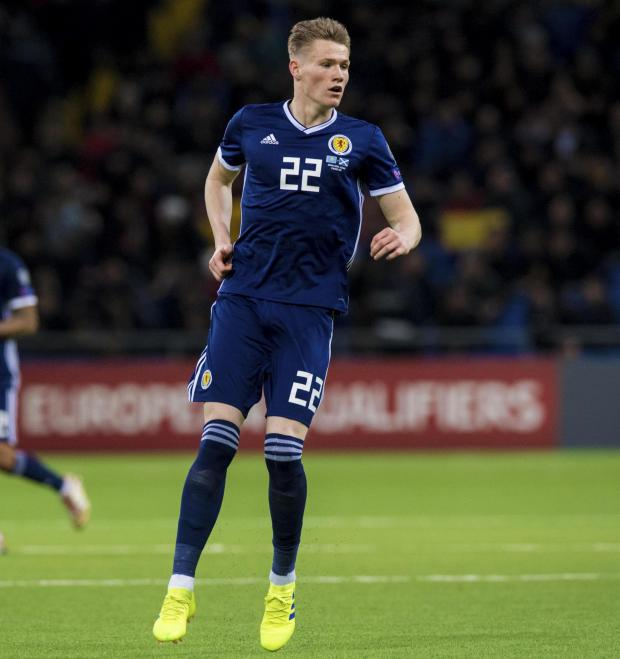 Evening Times: Scott McTominay went down the tunnel on the whistle
