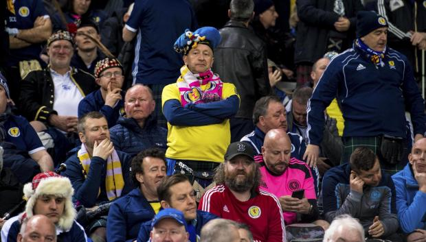 Evening Times: The Tartan Army look deflated