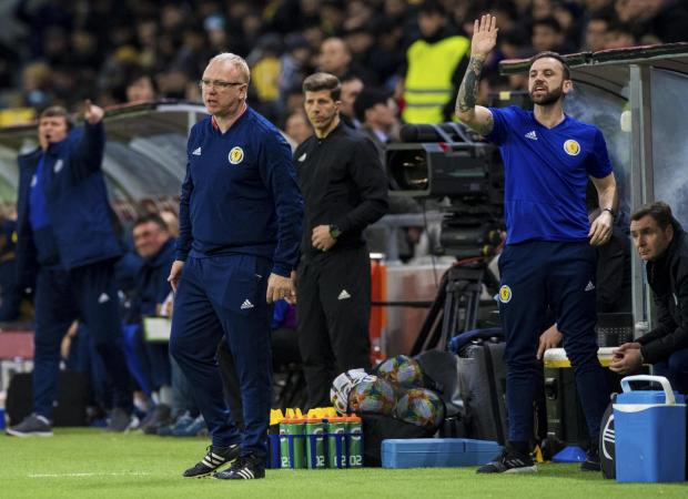 Evening Times: Alex McLeish shows his frustration on the touchline