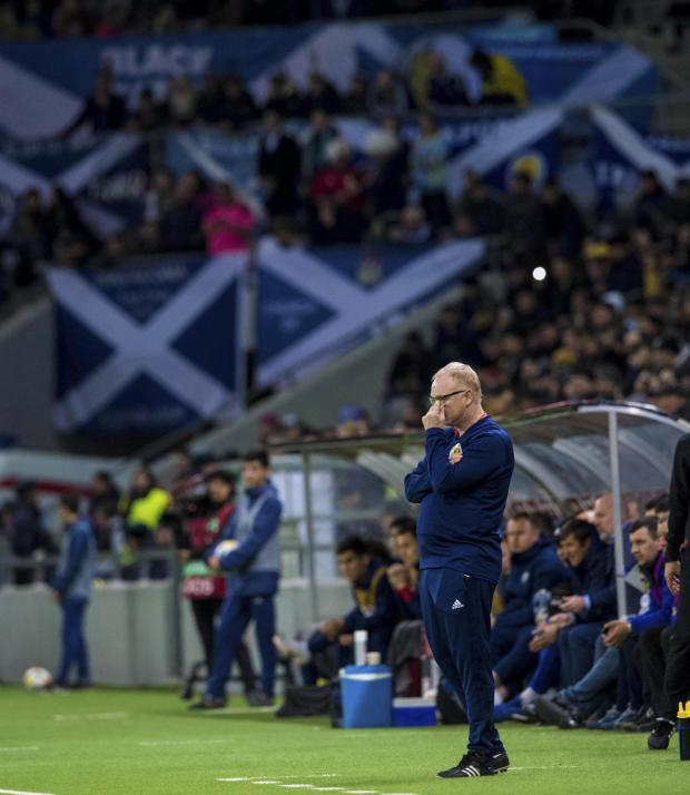Evening Times: Alex McLeish cuts a dejected figure