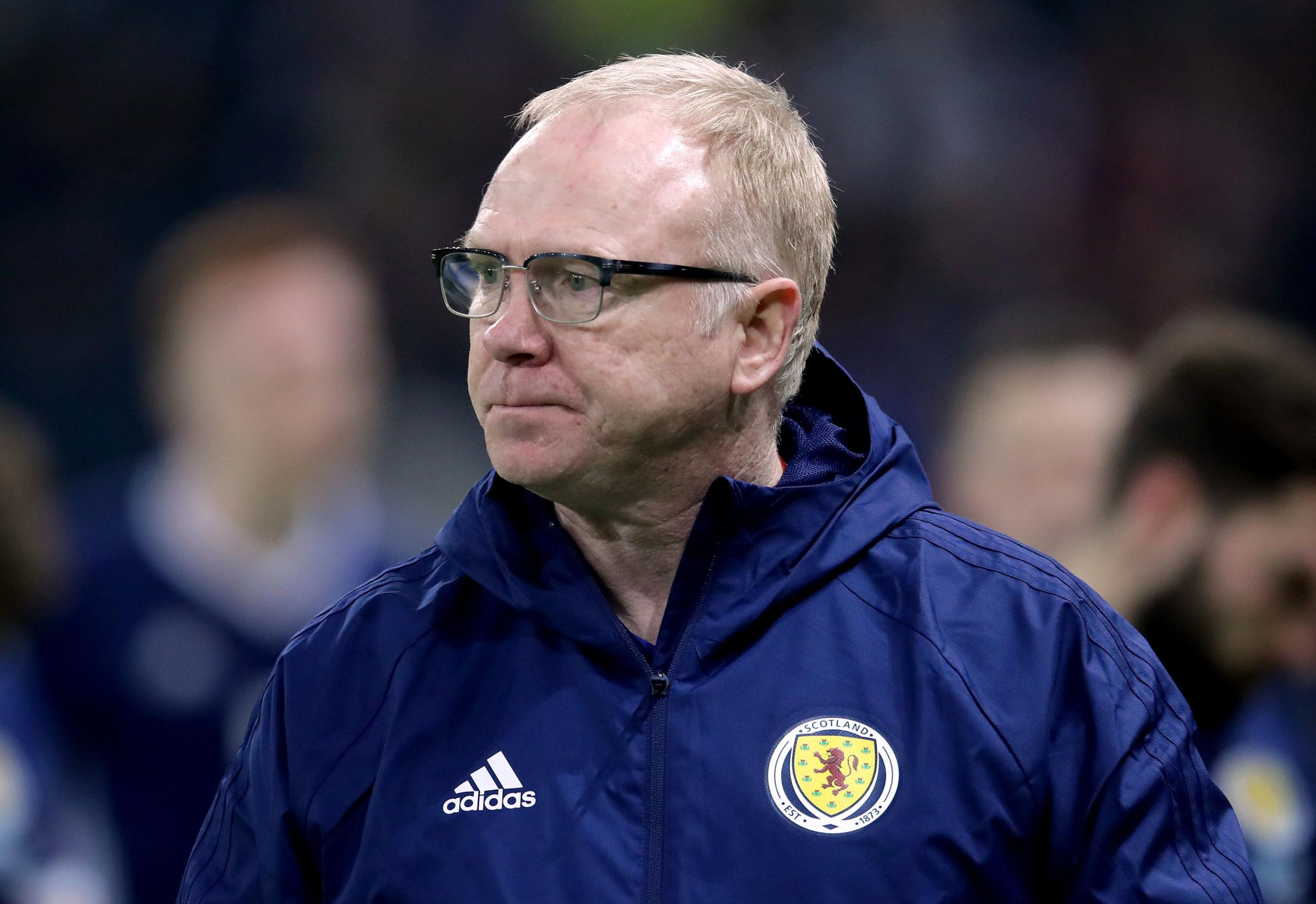 Alex McLeish was badly let down by his players.