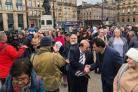 A vigil was held in George Square and across Scotland for peace and religious tolerance (Image courtesy of PA)