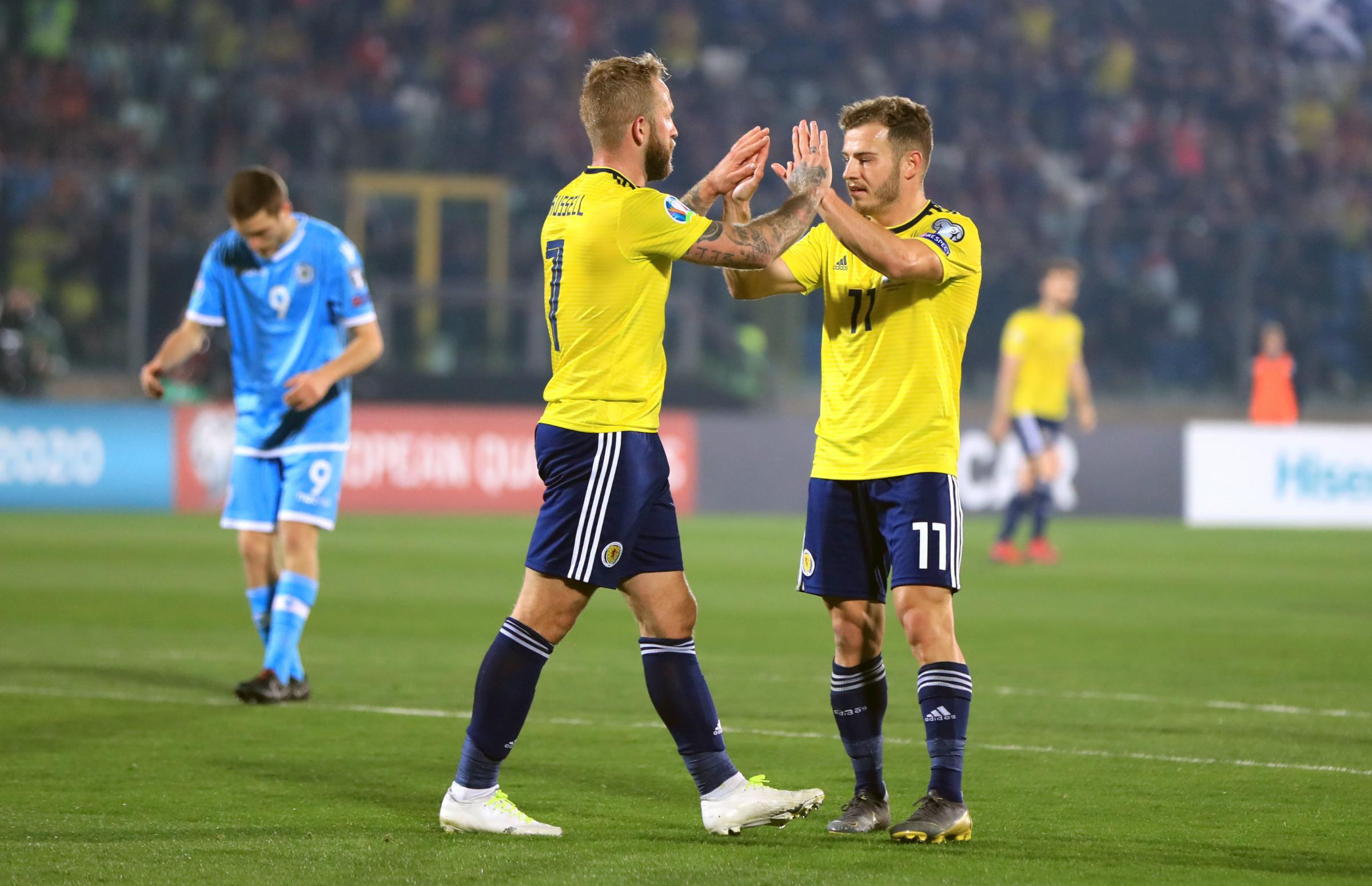 Johnny Russell got Scotland's second goal to finally kill off San Marino.