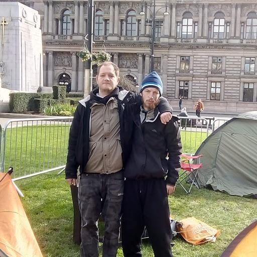'We're sick of the way we're being treated': Glasgow homeless protesters pitch up tents outside City Chambers