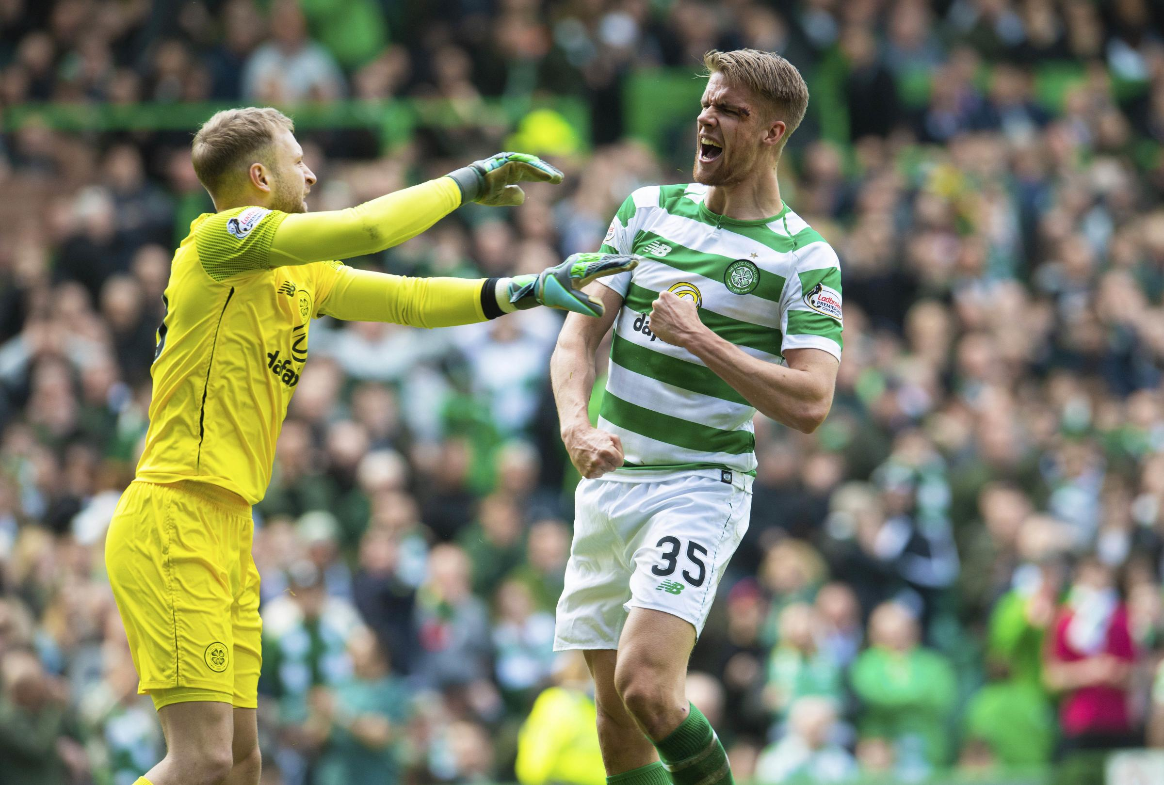 Kristoffer Ajer had his best game for Celtic in the derby