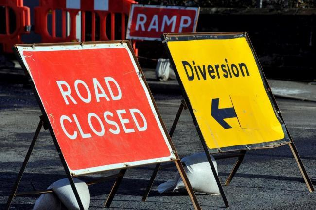 Roads in and around Motherwell closed all day