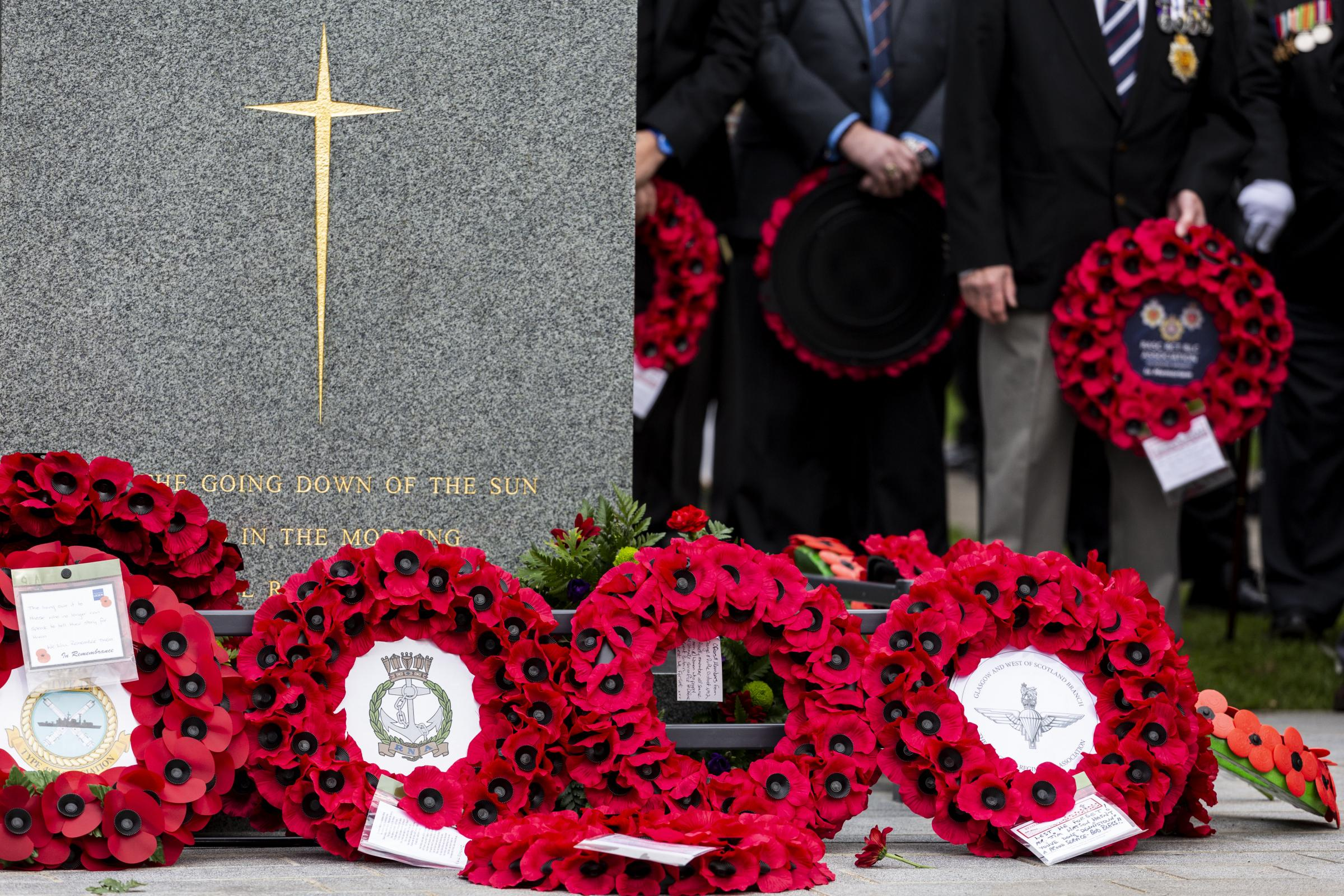 Dennistoun War Memorial has symbols of remembrance taken from Glasgow site