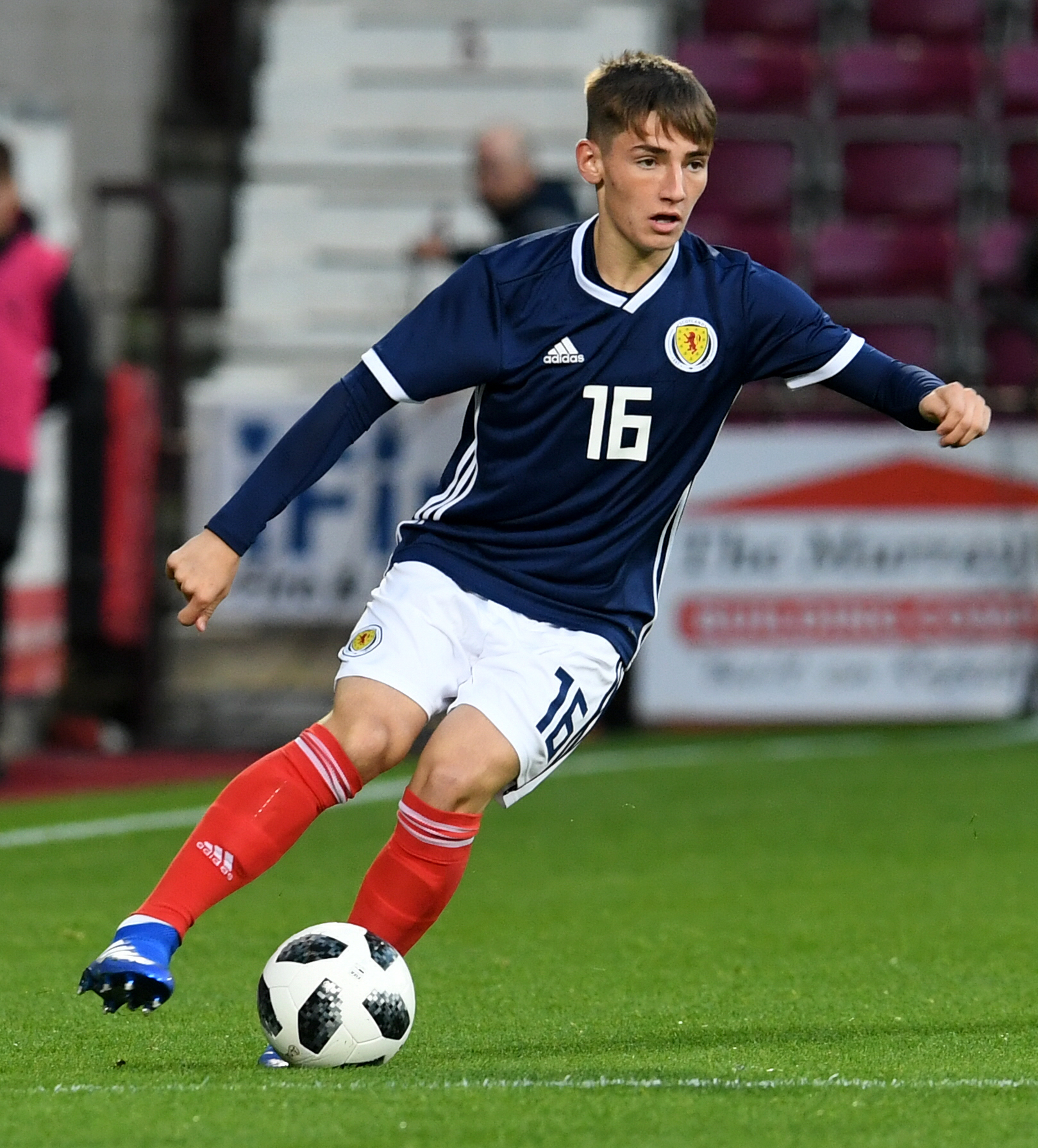 Billy Gilmour in action for Scotland