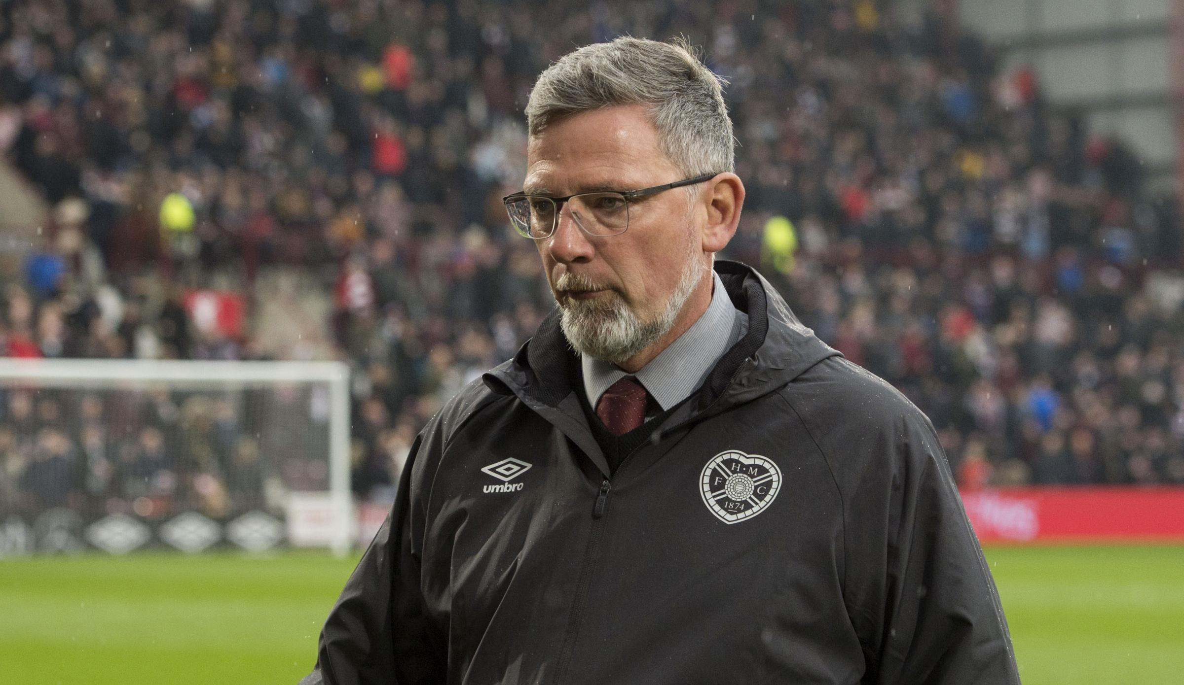 Hearts manager Craig Levein looks dejected at full time
