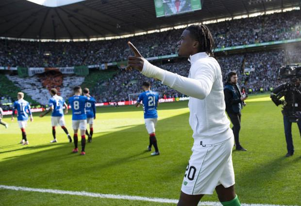Evening Times: Dedryck Boyata walks onto the pitch at Celtic Park