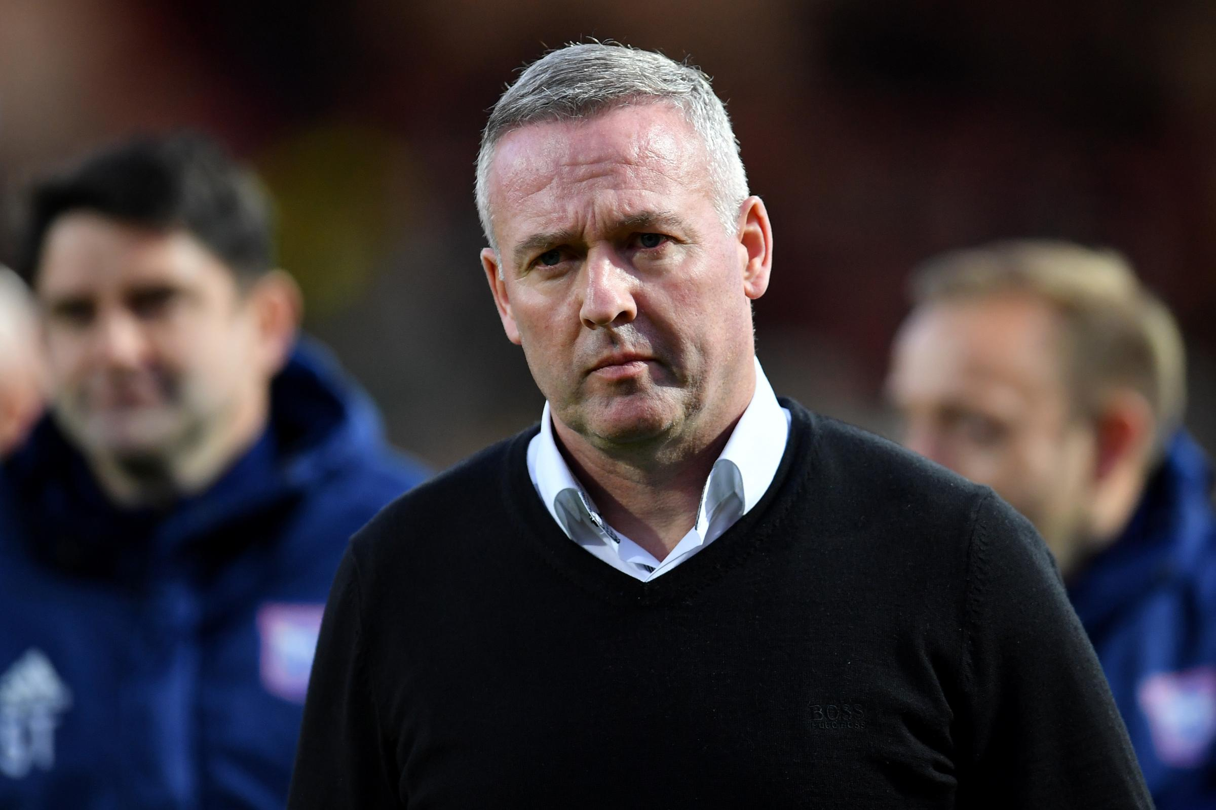 Ipswich Town manager Paul Lambert has been given a vote of confidence despite the club's relegation to League 1
