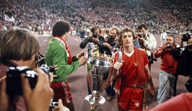 Evening Times: Winning goalscorer Trevor Francis with the 1979 European Cup