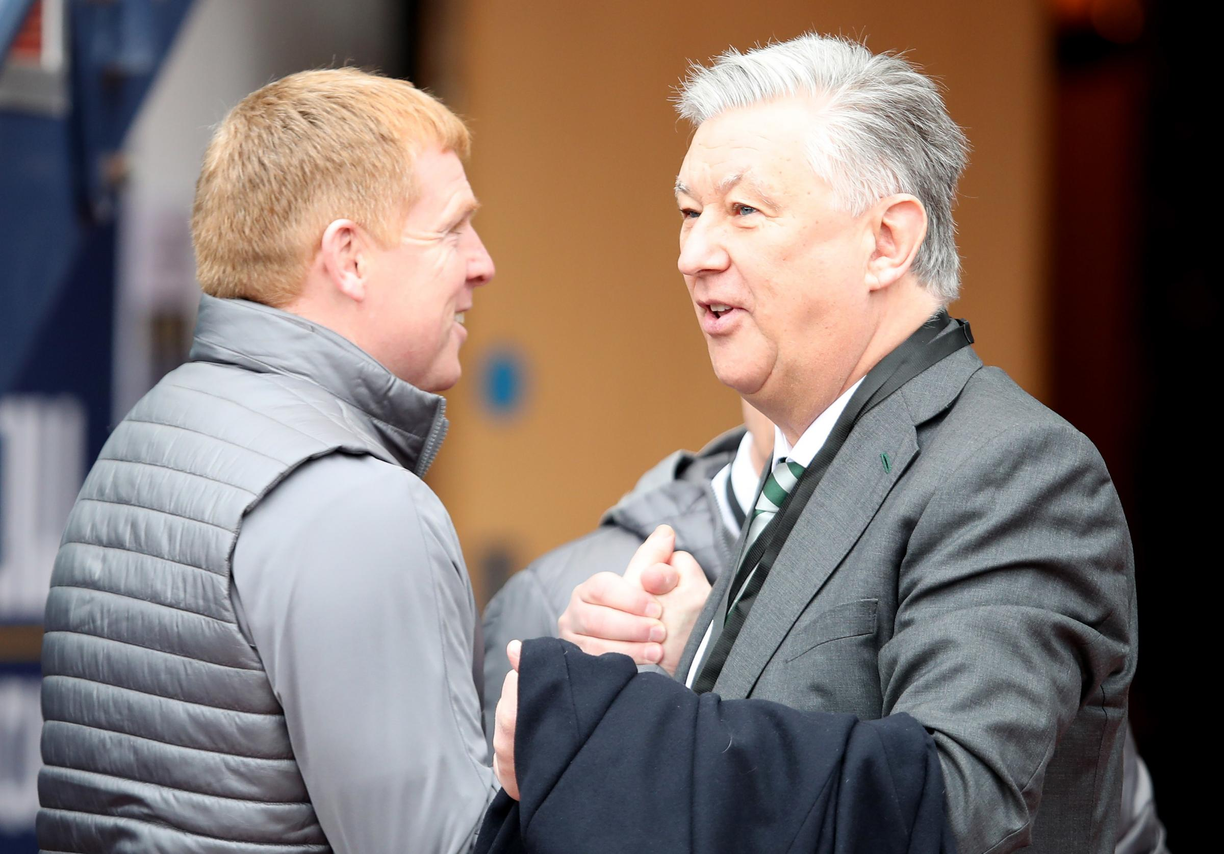 Neil Lennon and Peter Lawwell could watch Celtic win their eighth title in a row at Easter Road