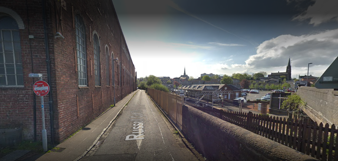 Man falls onto Coatbridge railway tracks after being punched in the face