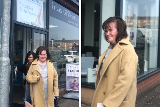 Britain's Got Talent star Susan Boyle stops for makeover in Glasgow