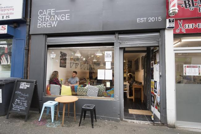 Cafe Strange Brew Glasgow was highly recommended in the Best Cafe category.