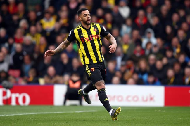 Andre Gray during the Premier League match between Watford and Wolverhampton Wanderers at Vicarage Road