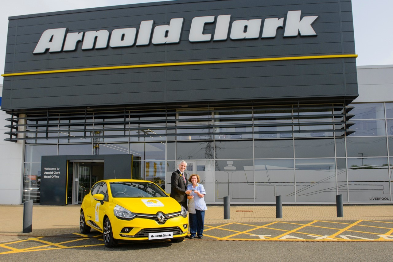 Cancer charity gifted brand new car by Arnold Clark