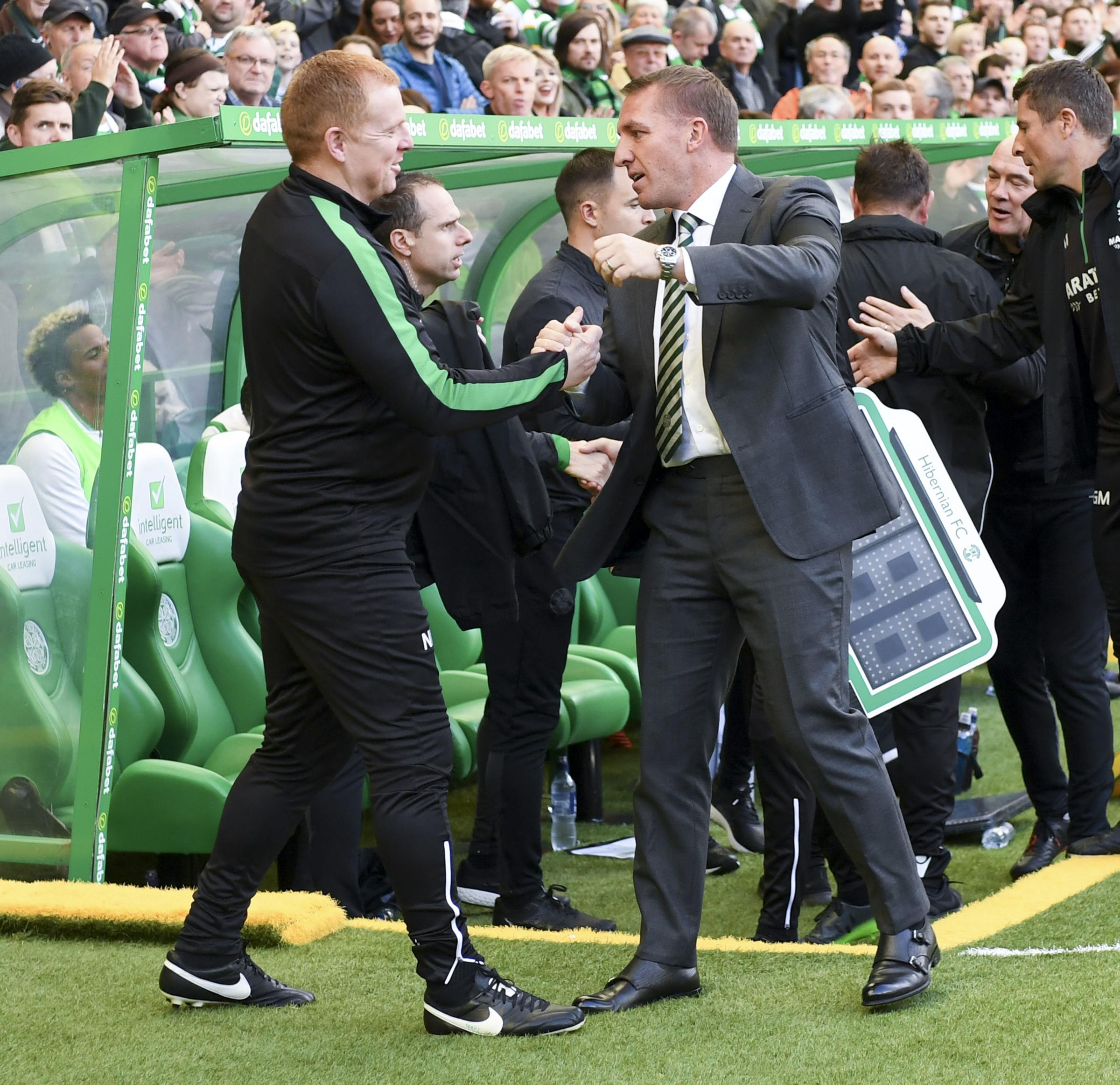 Neil Lennon has praised Brendan Rodgers recently, but Celtic fans are still hurting over the manner of his departure.