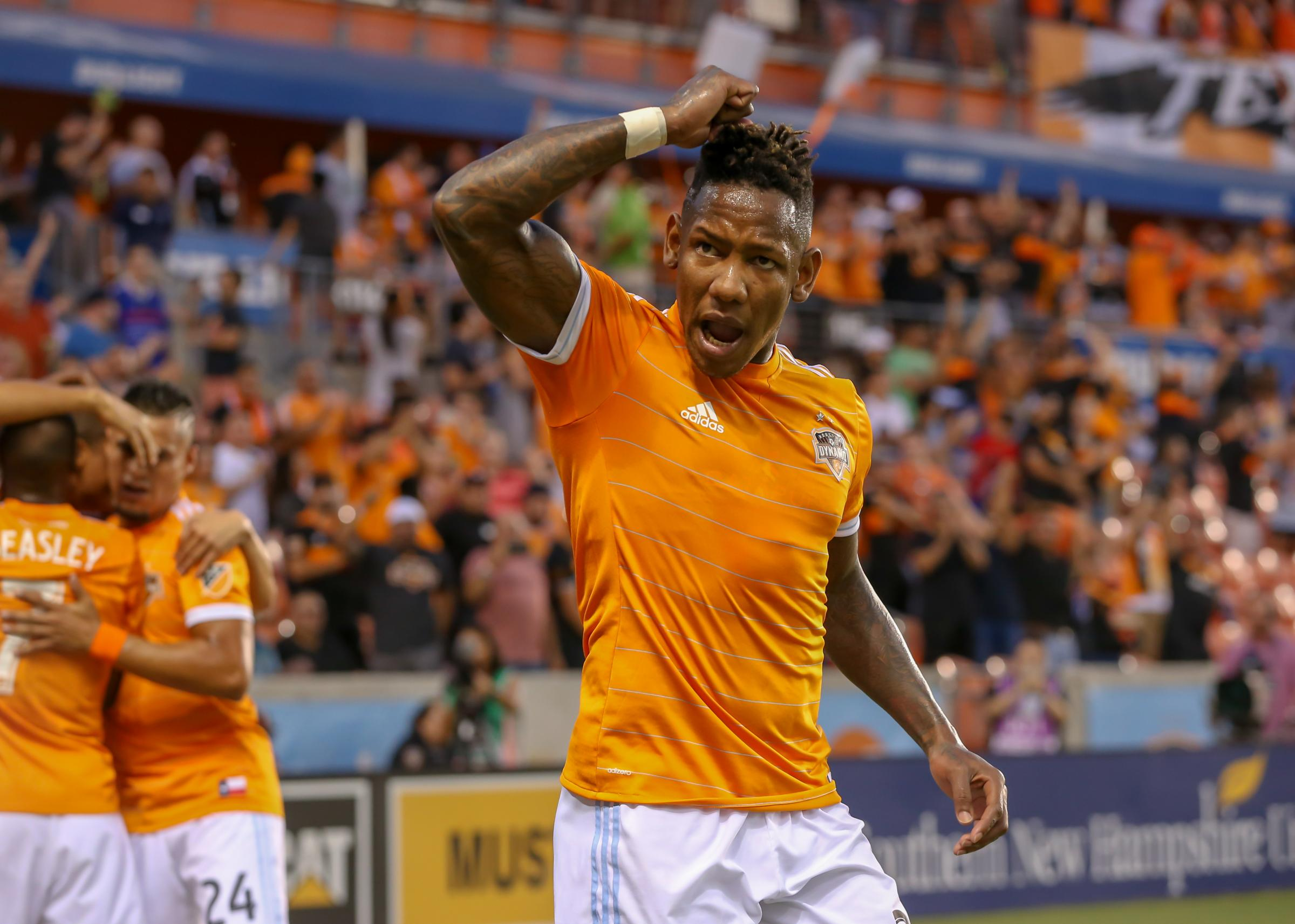 Houston Dynamo striker Alberth Elis