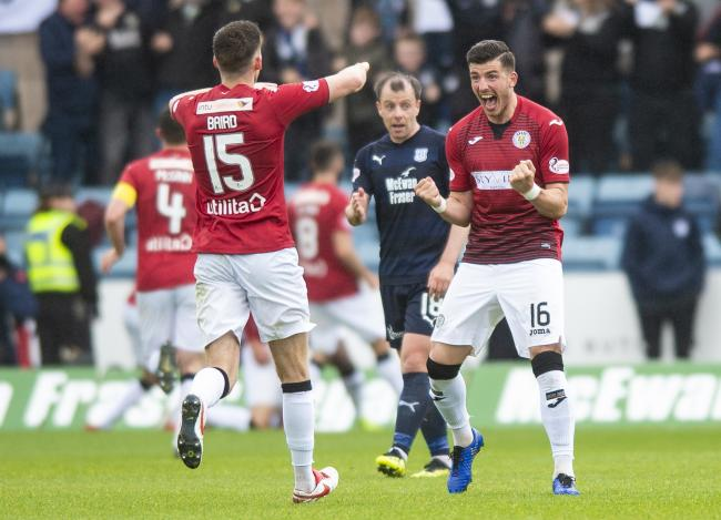 St Mirren did well at Dens Park but still have two games to go to stay in the Premiership