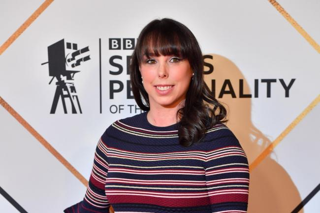Beth Tweddle on the red carpet