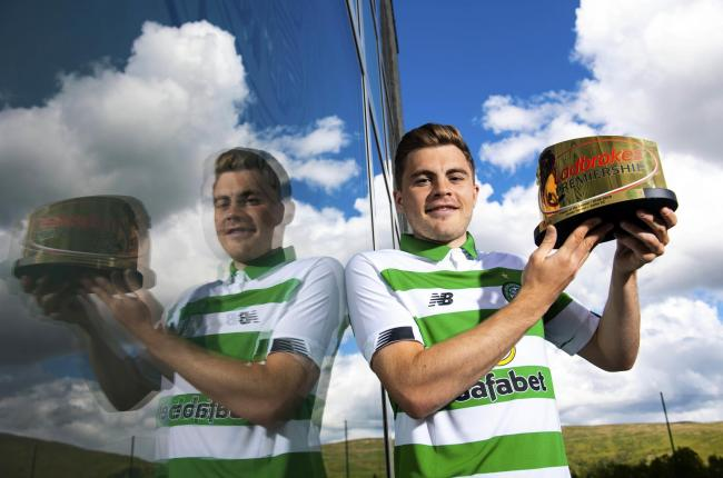 James Forrest with his Ladbrokes Premiership Player of the Year award