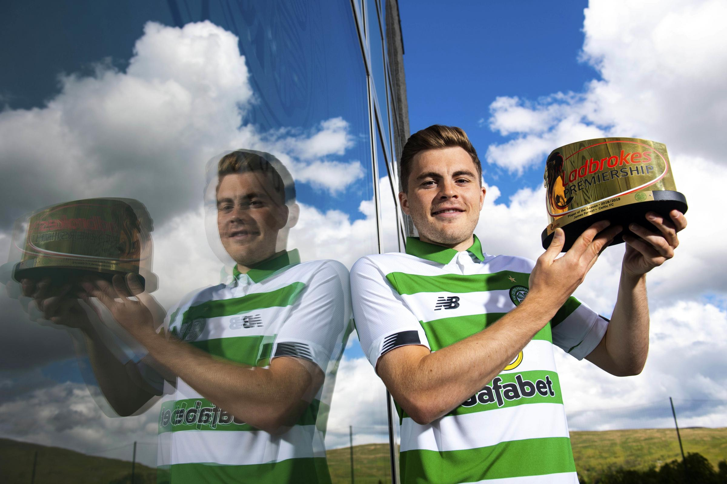 Celtic winger James Forrest completes personal treble by winning Ladbrokes Premiership Player of the Year