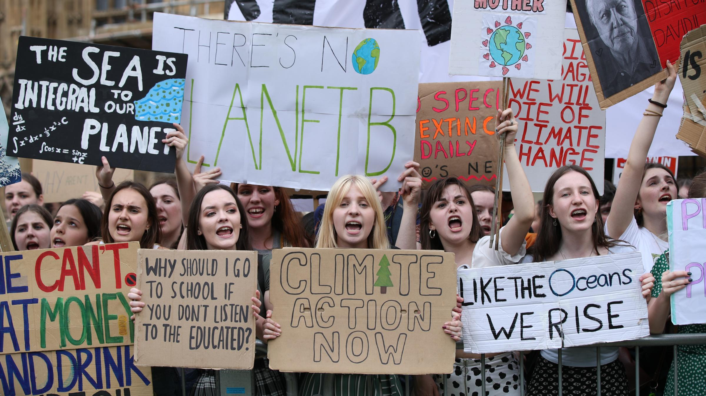 Thousands of pupils strike in demand for action on climate change