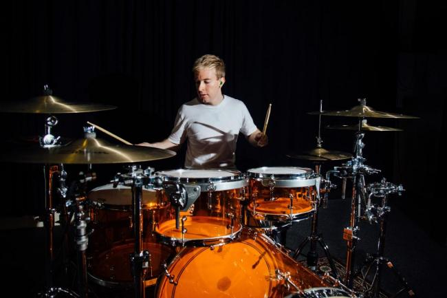 Musician goes from secretly playing drums in school to being on tour with Rod Stewart