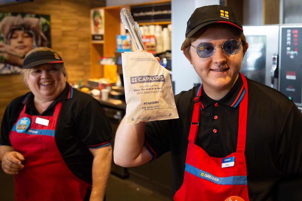 Glasgow-born Lewis Capaldi goes undercover as Greggs employee before Middlesbrough gig
