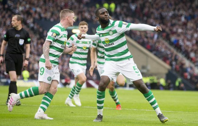 Odsonne Edouard scored both of Celtic's goals in the 2-1 win PHOTO: PA