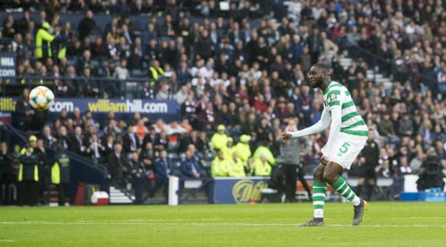 Celtic's Odsonne Edouard scores his side's second goal of the game during the William Hill Scottish Cup Final at Hampden Park, Glasgow. Picture: PA