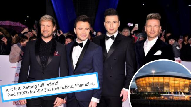 Fan fury as hundreds forced to stand or go home after Westlife seating plan chaos