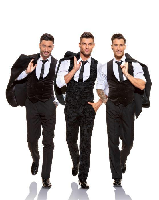 Strictly professional dancers (left to right) Giovanni Pernice, Alja? Škorjanec and Gorka Marquez.
