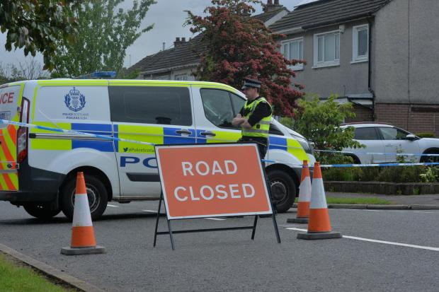 Evening Times: Rannoch Drive was partially closed following the incident. (Kirsty Anderson/Herald and Times)