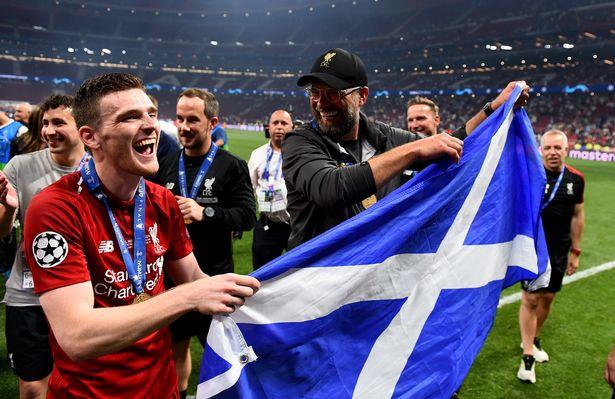 Andy Robertson and Jurgen Klopp are heading to Scotland.