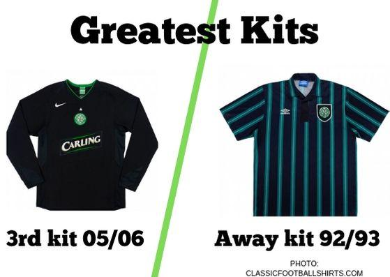IN today's Greatest Kits poll, we've picked out Celtic's 3rd kit from the 2005/06 season and the away kit from 1992/93