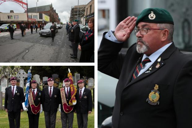 The funeral of Gerald Fisher in Glasgow last week. (Colin Mearns/Herald and Times)