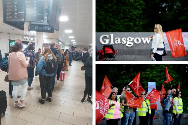 Passengers were hit with delays Friday when staff went out on strike (Jamie Simpson/Herald and Times)