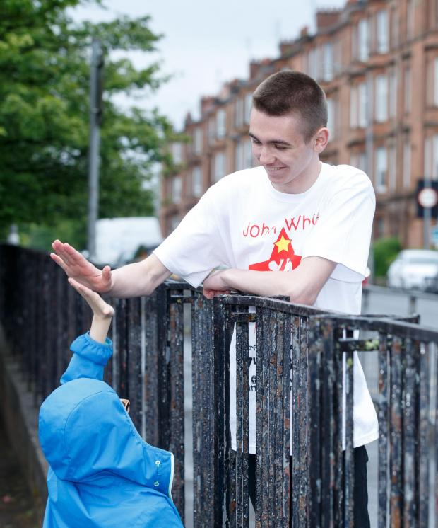 Evening Times: John White campaigns to support kids in Glasgow's east end