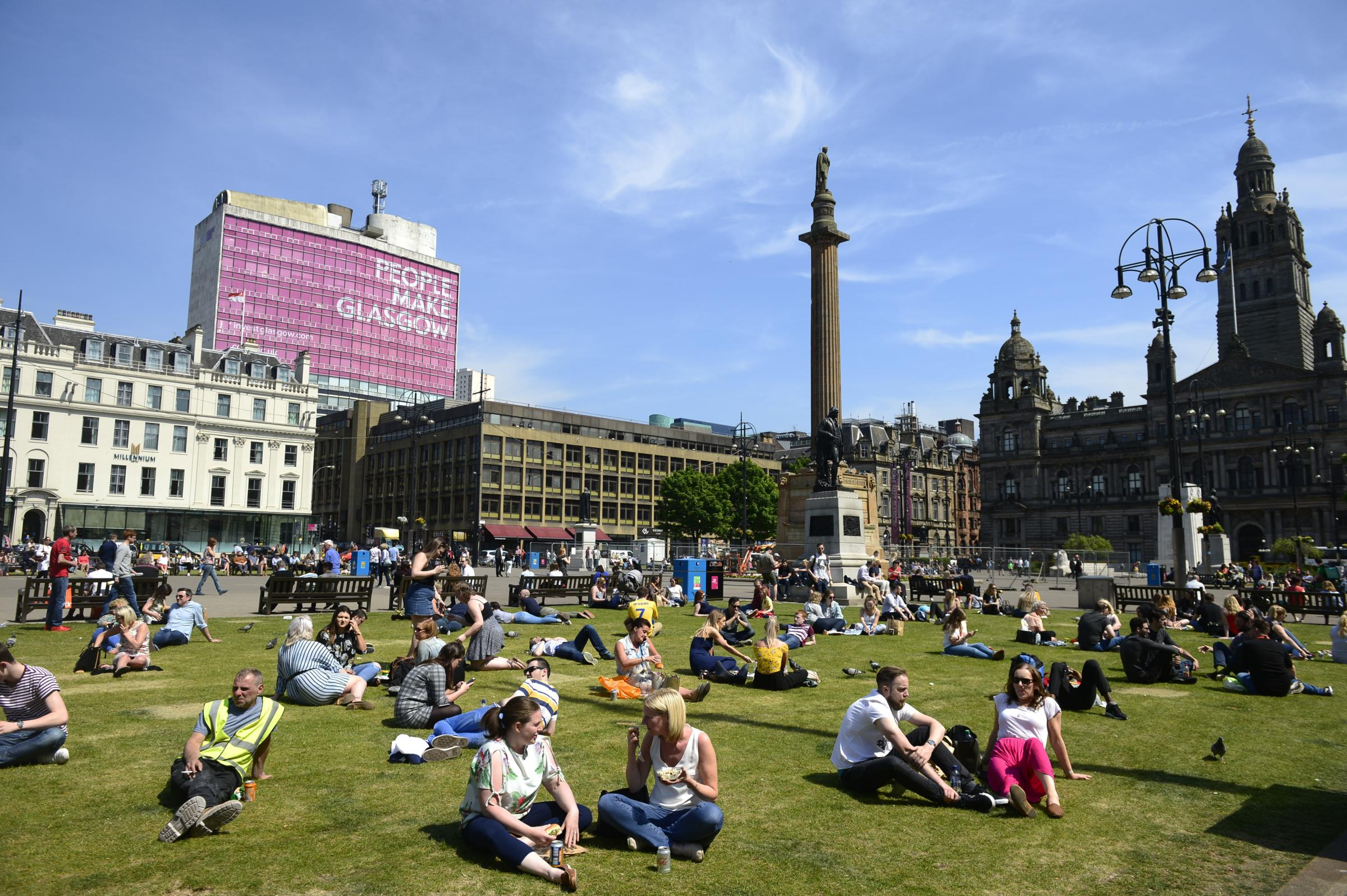 Glasgow weather: Bright and sunny day in store for the city