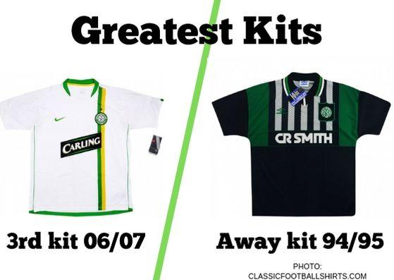 In today's Greatest Kits reader poll, we're pitting Celtic's retro 1994/95 away kit up against the 3rd strip from the 2006/07 season.