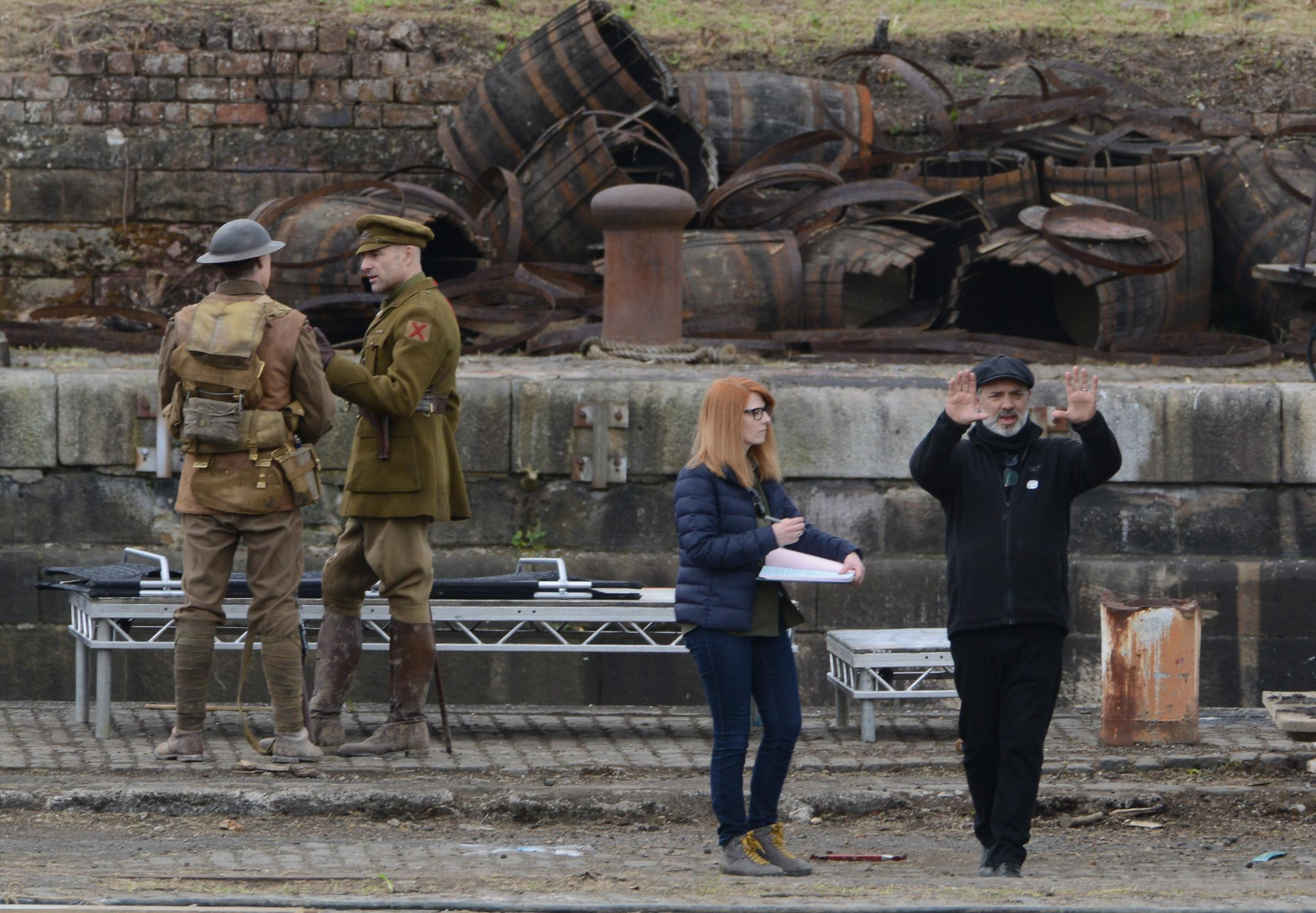 Hollywood star Mark Strong spotted filming for Steven Spielberg epic in Govan