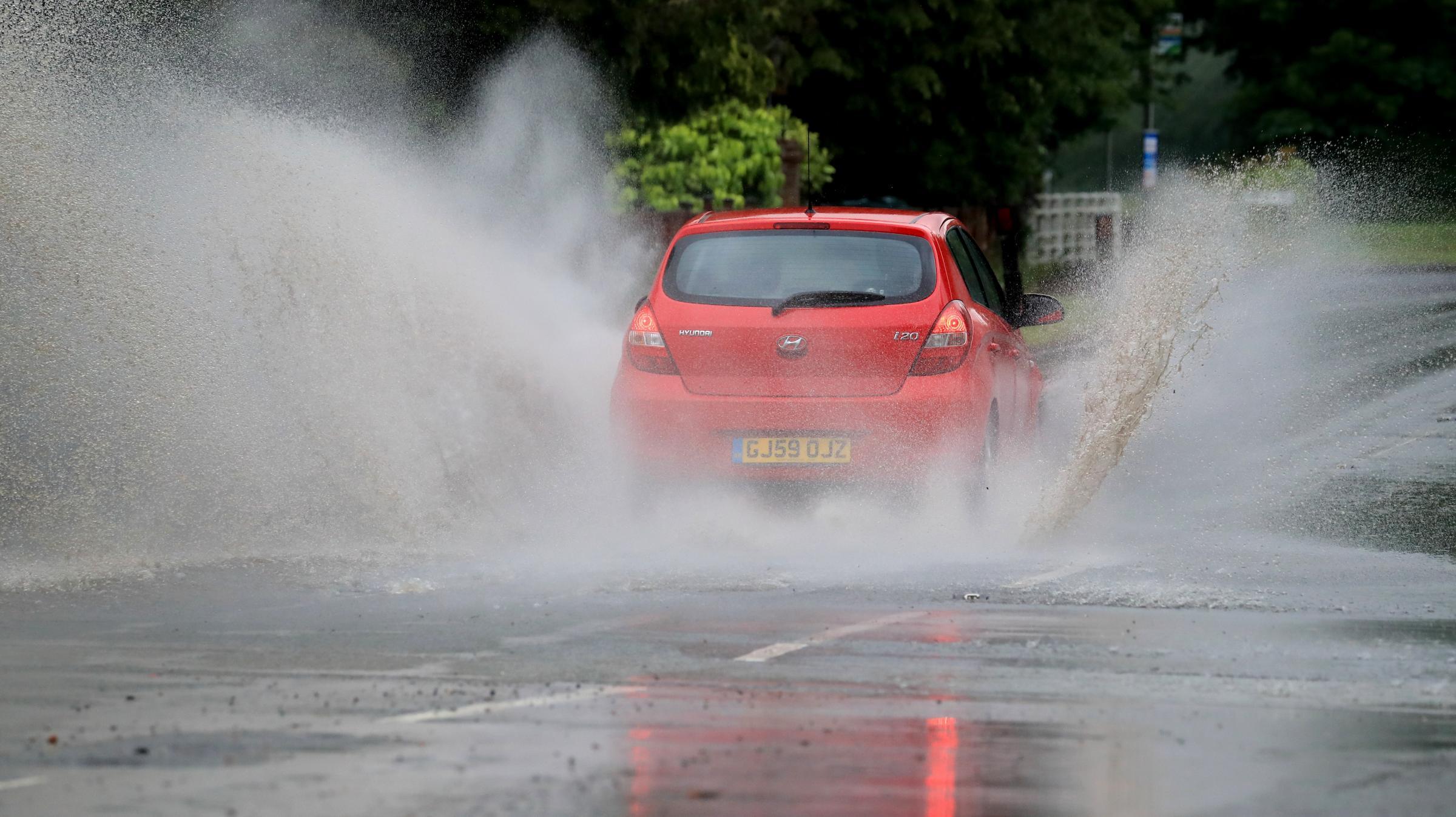 Heavy rain prompts 'treacherous' conditions warning
