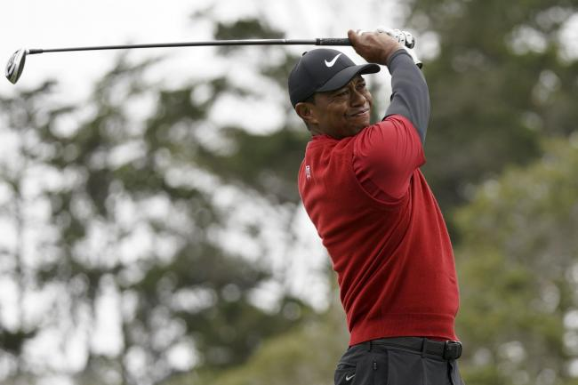 Tiger Woods carded his lowest score of the week during the final round at Pebble Beach