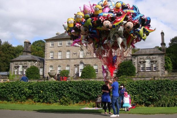 Evening Times Reader William Ford captured this tranquil Sunday Afternoon image of a Balloon seller in front of Pollok Country House.