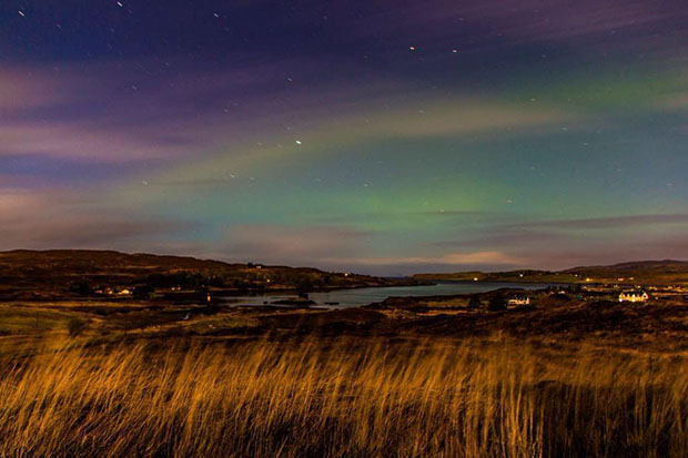 Reader Charlotte Grant took this beautiful image of the Northern lights over Bernisdale in Skye
