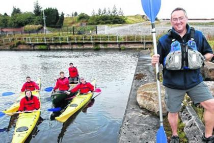 Canoe and kayaking coach William McLeod puts trainees through their paces